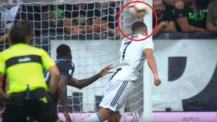 Cristiano Ronaldo intentó anotar un gol con la mano en el Juventus vs. Lazio
