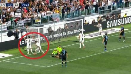 El blooper de Cristiano Ronaldo en el segundo gol de Juventus ante Lazio