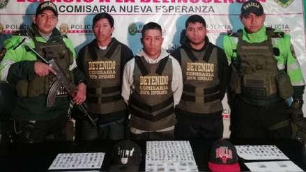 Policía Nacional captura a integrantes de banda dedicada a la microcomercialización de droga