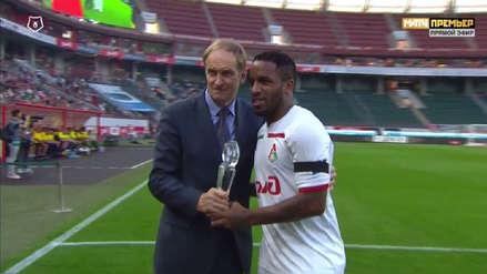 Jefferson Farfán recibió este homenaje en el Lokomotiv