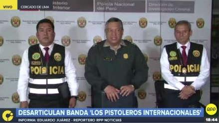 Policía Nacional capturó a tres miembros de la banda criminal 'Los pistoleros internacionales'