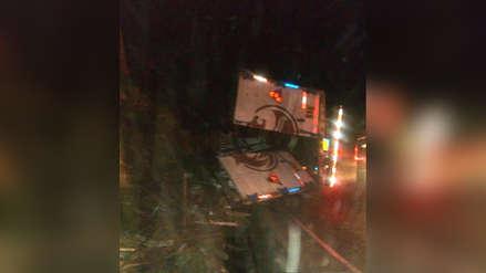 Chofer muere tras despiste de camión en Poroto