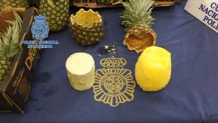 Policía de España confiscó 67 kilos de cocaína escondida en piñas de Costa Rica
