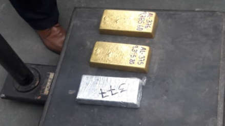 Policía incautó tres lingotes de oro valorizados en más de un millón de dólares