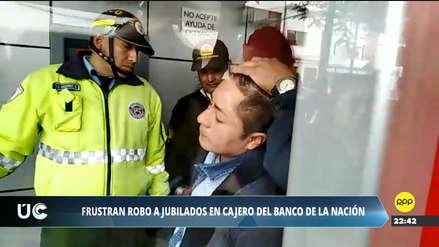 La Policía detuvo a un hombre que quiso robar a pensionistas en agencia bancaria de Surco