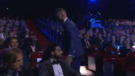 Mohamed Salah ignoró a Sergio Ramos en el sorteo de la Champions League