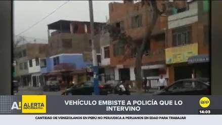 Video | Conductor embistió con su vehículo a policía que lo intervino en Independencia