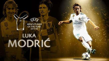 Luka Modric ganó el premio al mejor jugador de la UEFA