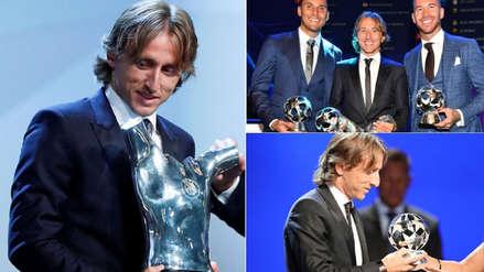 10 fotos de la premiación de Luka Modric como mejor jugador de Europa