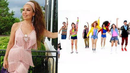 Thalía presenta coreografía del #ThalíaChallenge y busca el Record Guinness