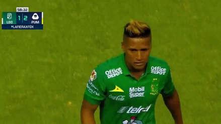 Pedro Aquino fue expulsado en duelo del León vs Pumas