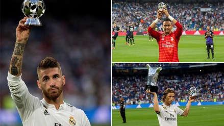 Real Madrid homenajeó a sus jugadores premiados por la UEFA