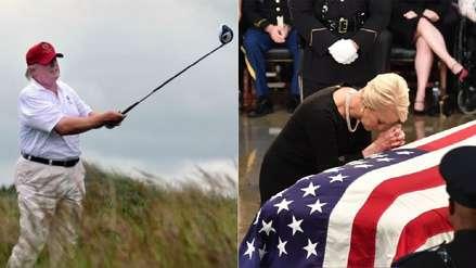 Trump fue a su club de golf mientras autoridades y expresidentes iban al funeral de John McCain