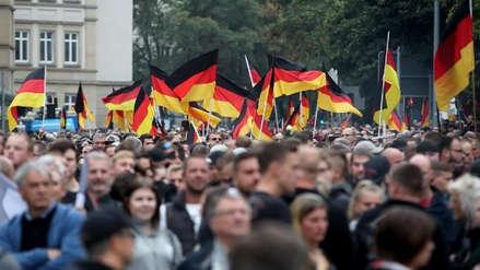 Miles de alemanes participaron en la marcha ultraderechista de Chemnitz