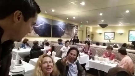 Ciudadano que confrontó a Alejandro Toledo en restaurante de Estados Unidos dio su testimonio