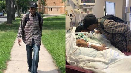 Un hombre de 99 años camina todos los días 10 km para visitar a su esposa enferma en Nueva York