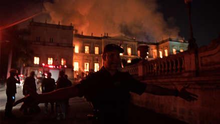 El incendio que destruyó el Museo Nacional de Río de Janeiro fue sofocado
