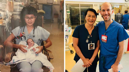 Una enfermera descubrió que trabaja con el bebé que cuidó hace 28 años