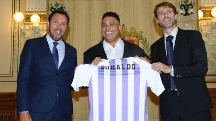 Ronaldo Nazario fue presentado como nuevo dueño del Valladolid