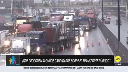 ¿Qué proponen algunos candidatos sobre el transporte público de Lima?