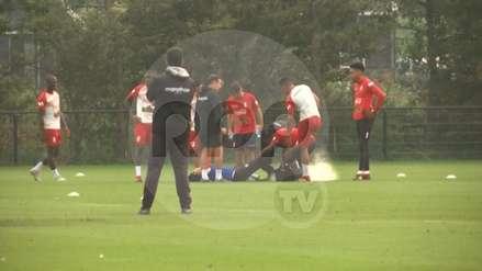 Este fue el golpe que sacó de los entrenamientos a Raúl Ruidíaz