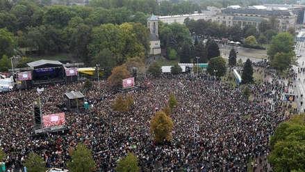 Unas 65.000 personas asistieron a un concierto contra el racismo en Chemnitz