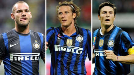 El once del Inter de Milán la última vez que jugó la Champions League