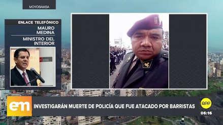 Mininter maneja dos líneas de investigación en caso de policía muerto tras ser atacado en clásico