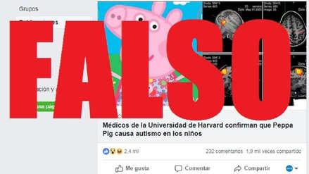 No, no hay estudios que vinculen a 'Peppa Pig' con el autismo