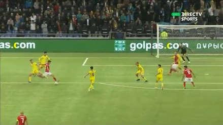Giorgi Chakvetadze anotó el primer gol de la historia de la Liga de Naciones de la UEFA