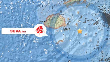 Terremoto de magnitud 7.8 se registró en las costas de Fiyi
