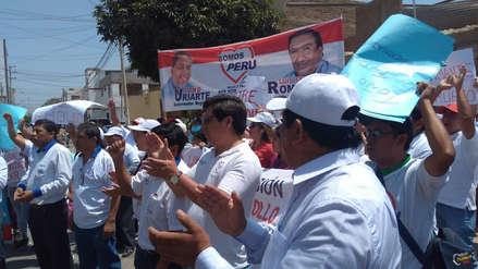 Candidato regional Antonio Uriarte protesta en Jurado Electoral por exclusión