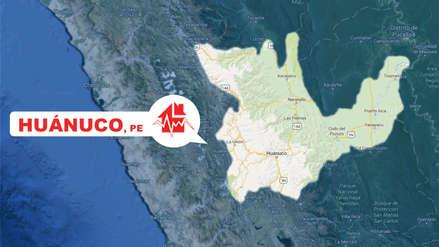 Un sismo de magnitud 4.7 sacudió Huánuco esta tarde