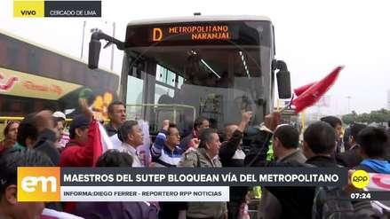 Video | Maestros del Sutep bloquearon vía del Metropolitano