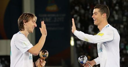 Luka Modrić reveló que Cristiano Ronaldo lo felicitó por el premio de la UEFA