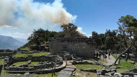 Incendio forestal amenaza a comunidades cercanas al santuario de Kuélap