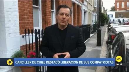 Canciller chileno sobre liberación de compatriotas: