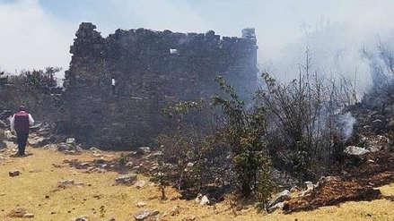 Controlan incendio forestal cerca de Marcahuamachuco