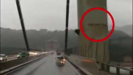 Nuevo video muestra que el puente de Génova se estaba partiendo minutos antes de su caída