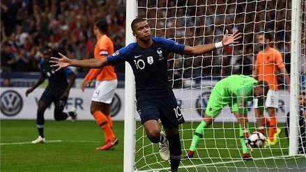 El gol de Kylian Mbappé para poner el 1-0 sobre Holanda por la UEFA Nations League