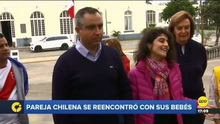 Pareja de chilenos se reunió con bebés: