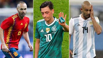 Rusia 2018: el 11 con los jugadores que se retiraron después del Mundial