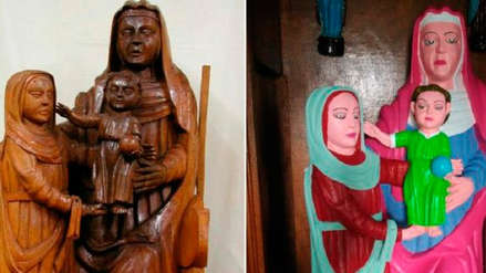 Restauración amateur de tallas del siglo XV causa escándalo en España
