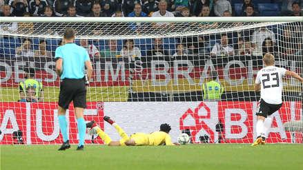 Perú vs. Alemania: mala salida de la Bicolor acabó en blooper de Gallese