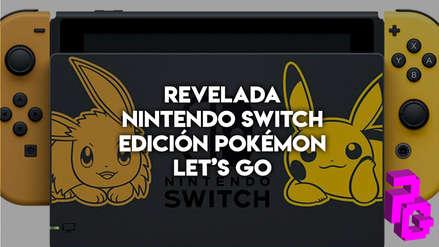 """Nintendo Switch lanzará una consola temática edición """"Pokémon Let's Go"""""""