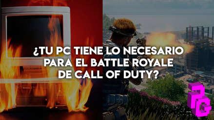 ¿Tu PC tiene lo necesario para el Battle Royale de Call of Duty?
