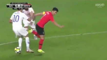 Heung-Min Son ridiculizó a dos jugadores chilenos en duelo amistoso