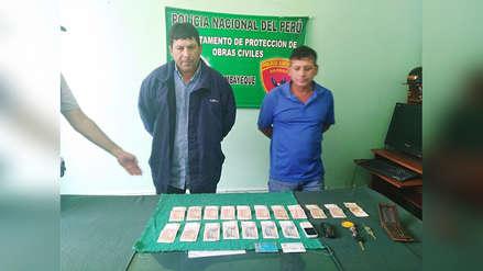 Chiclayo: detenidos por pedir dinero en obra de construcción