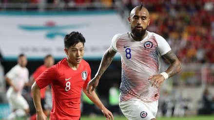 Chile empató 0-0 ante Corea del Sur con Arturo Vidal como titular
