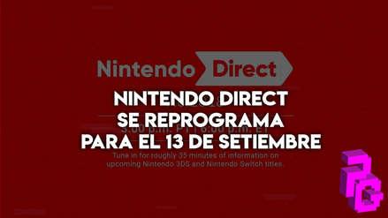 Nintendo Direct se reprograma para el 13 de setiembre